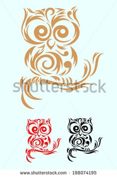 Owl Bird art tribal vector file and easy to use Stock Vector Tribal Tattoos, Love Tattoos, Body Art Tattoos, New Tattoos, Celtic Tattoos, Skull Tattoos, Star Tattoos, Tatoos, Wing Tattoos
