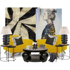 Kelly Wearstler, Art and The Yellow Chairs...