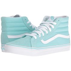 e6bcb3061c5 Vans SK8-Hi Slim (Aruba Blue True White) Skate Shoes (450