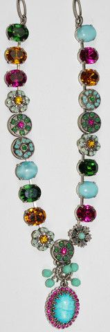 MARIANA NECKLACE HAPPY DAYS: turq, blue, amber, pink, green stones, 1/ – European Accent