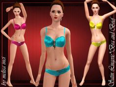 lingerie set by melisa inci Found in TSR Category  Sims 3 Female Clothing  Sets  57623f143