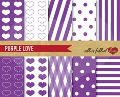Purple Illustrations Background Kit by All is full of Love on @creativework247