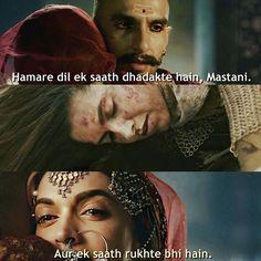 Our hearts beat together, Mastani And cease together, too Deepika Padukone Bajirao Mastani