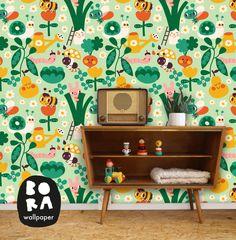 Behang Groentetuin - Bora Wallpaper - De Oude Speelkamer