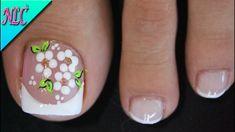 Pretty Toe Nails, Pretty Toes, Flower Nail Designs, Flower Nails, Christmas Nails, Hair And Nails, Hair Beauty, Nail Art, Youtube