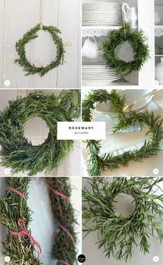 24 ways to decorate with rosemary this holiday | Rosemary wreaths: