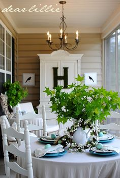 I would love a dining room on my back porch!