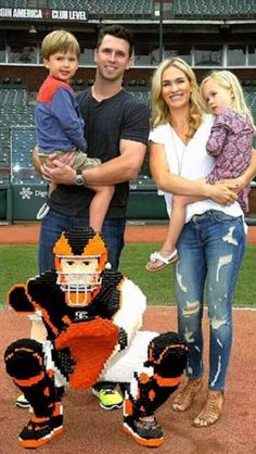Posey family at AT&T Lego night