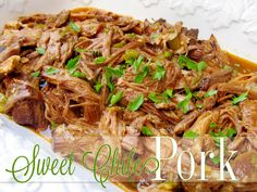 Lovely Little Snippets: Sweet Chile Pork {a freezer meal}
