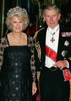 Delhi Durbar Tiara with necklace gifted by Prince Charles.