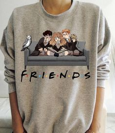 Harry Potter Ron And Hermione Friends Shirt ✅Hoodie ✅ Sweatshirt ✅Sweater, T-Shirt, Long Sleeve, Tank Top, Crewneck Hooded. Harry Potter Ron Weasley, Mode Harry Potter, Harry Potter Friends, Harry Potter Jokes, Harry Potter Outfits, Harry Potter Characters, Harry Potter T Shirts, Harry Potter Clothing, Harry Potter Fashion
