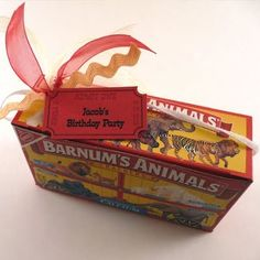 Circus Party Favor - Click image to find more Food & Drink Pinterest pins