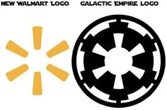Wal-Mart's Logo versus the Galactic Empire's Logo