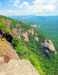 Whiteside Mountain (Shown) At the link, Top 60 hikes Asheville Hikes & Trails in NC Mountains