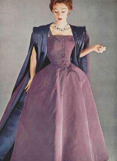 A vision of violet loveliness - Christian Dior, 1950s. #vintage #1950s #dresses #purple