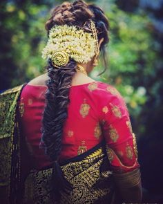 10 Unique Braided Hairstyle Ideas You Really Need To Try On South Indian Bride Hairstyle, Indian Wedding Hairstyles, Box Braids Hairstyles For Black Women, Braided Hairstyles For Black Women, Saree Hairstyles, Bride Hairstyles, Hairstyle Ideas, Indian Baby Showers, Maternity Photography Poses