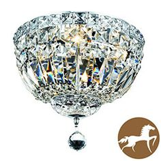 Christopher Knight Home Chrome Four-light Flush Mount Fixture