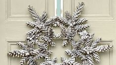 Snowy Pinecone Wreath