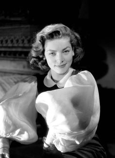 "Inspiration (Lauren Bacall in silk organza or cotton organdy blouse from William Travilla's beautiful outfit for Lauren Bacall in ""How to Marry a Millionaire"") -- I Love a Beautiful Sleeve - Terry Dresbach, Outlander Costume Designer"
