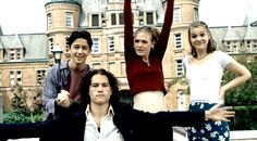 10 things i hate about you Julia Stiles, Heath Ledger, Joseph Gordon-Levitt, Larisa Oleynik