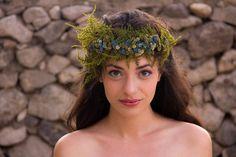 Siren Headpiece add Seashells |Fern & Flower Head Wreath Fairy Crown in Blue by LoveFromAfar, $45.20