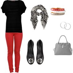 red jean outfit!