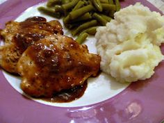 Slice of Southern: Pork Chops in an Apricot Sauce