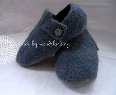 Men's Slippers by Lise-Anne Michel   These slippers are extra warm. Made of 100% wool felting yarn, they are cozy and comfortable. This is a beginner level knitting pattern. Don't be intimidated by the felting. It's a fast, easy, and very forgiving process.