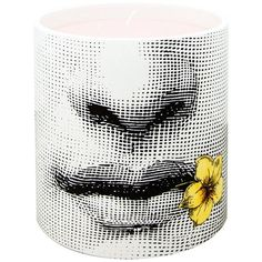 Fornasetti Fior Di Bacio Scented Candle (19,990 PHP) ❤ liked on Polyvore featuring home, home decor, candles & candleholders, candles, black, fornasetti, black home decor, black candles, scented candles and fornasetti candles