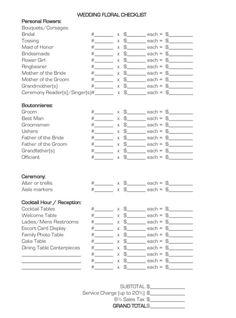 Naples Wedding Fl Checklist The Perfect Match Studio