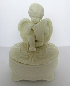 Delightful Vintage Collectible Angel Playing Harp by GildedTrifles