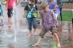 Make a splash in the Town Square fountains at the Southside Works in #Pittsburgh.