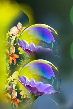 By Artist Unknown. Reflection Photography, Water Photography, Macro Photography, Creative Photography, Amazing Photography, Wall Art Wallpaper, Wallpaper Backgrounds, Bubble Pictures, Beautiful Nature Wallpaper