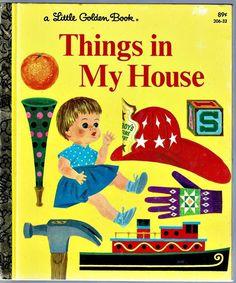 Children's Little Golden Book ~ THINGS IN MY HOUSE ~ Joe Kaufman