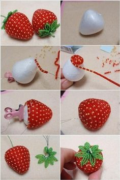 These Bead Strawberries are So Lovely and Creative
