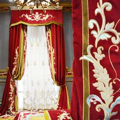 雅熙莱帝 品牌高档绣花欧式新古典窗帘客厅卧室窗帘定制 普琳西思