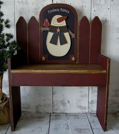 free images of birdhouse benches | Bench with Changeable Scenes (Bench pattern included with each scene ...