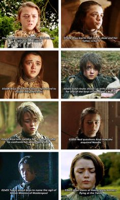 [gifset] Arya chews her lip when she's anxious #GOT | Game of Thrones