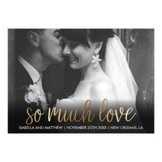 #engagement #party #invitations - #Fun Sparkly Bronze So Much Love Photograph Magnetic Card
