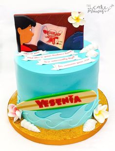 Lilo and Stitch Birthday Cake! #liloandstitchcake #liloandstitchthemedcake #liloandstitchbirthdaycake #disneycakeideas