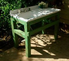 Potting bench with sink potting bench plans with sink gardening sink outdoor potting bench garden art . potting bench with sink potting bench plans Potting Bench With Sink, Outdoor Potting Bench, Potting Bench Plans, Rustic Outdoor, Outdoor Fun, Outdoor Garden Sink, Outdoor Kitchen Sink, Outdoor Sinks, Outdoor Gardens