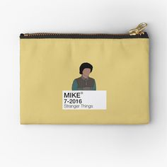 'Mike Wheeler - Stranger Things' Zipper Pouch by fictiophilia Fandom Outfits, Gifts For Family, Sell Your Art, Zipper Pouch, Stranger Things, Makeup Yourself, Are You The One, Coin Purse, Card Making