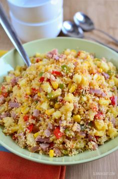Slimming Slimming Eats Hawaiian Style Couscous - dairy free, Slimming World and Weight Watchers friendly - Lunch Recipes, Diet Recipes, Vegetarian Recipes, Cooking Recipes, Healthy Recipes, Healthy Options, Slimming World Lunch Ideas, Slimming World Recipes Syn Free, Salads