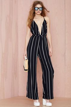 Faithfull Shutterbabe Jumpsuit - Navy | Shop Rompers + Jumpsuits at Nasty Gal