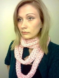 Pink Cowl by DanielleSeevers on Etsy,
