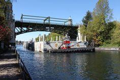 April 9, 2015 - Historic bridge and new pontoon