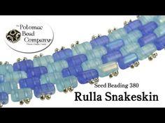 How to Make Rulla Snakeskin Stitch Bracelet (Peyote) - Seed Beading 380 - YouTube