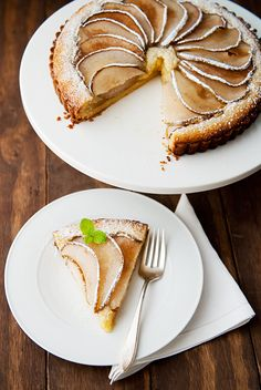 pear frangipane tart recipe | use real butter
