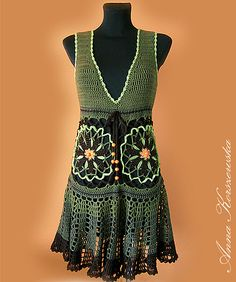Ravelry: Alija's Dress/Tunic Etno Green