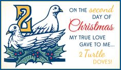 Free 2 Turtle Doves eCard - eMail Free Personalized Christmas Cards Online